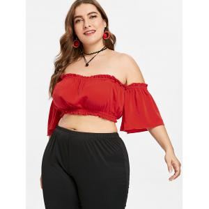 Plus Size Frilled Trim Tube Top -