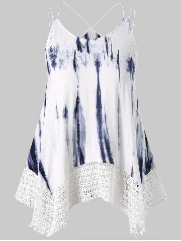 Outfits Plus Size Double Strap Tie Dye Tank Top