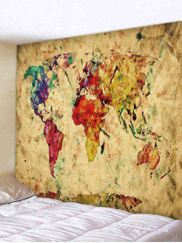 Unique Paint Map Pattern Tapestry Wall Decoration