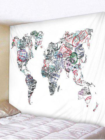 Store Seal Map Pattern Tapestry Wall Decoration
