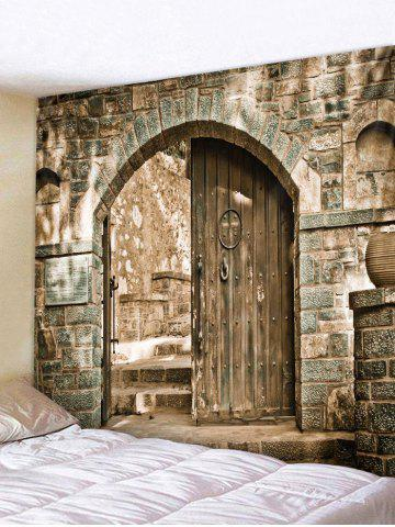 Outfit 3D Door Brick Print Tapestry Wall Decoration