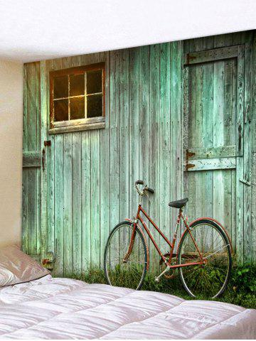 Fashion Wooden House Bike Pattern Tapestry Wall Decoration