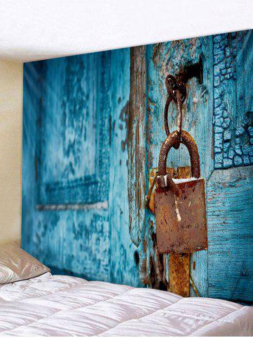 Chic Vintage Lock Door Pattern Tapestry Wall Hanging Decor