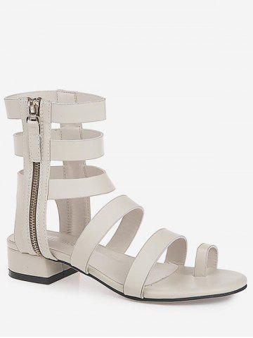 New Strappy Low Heel Leisure Gladiator Thong Sandals