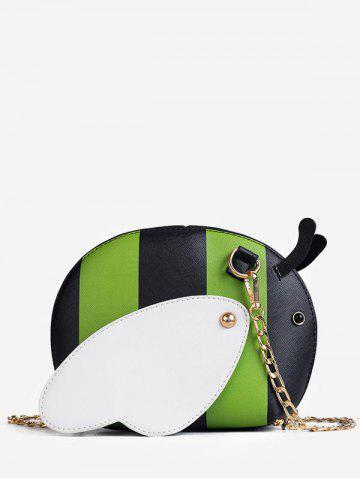 Shop Color Block Chain Critters Shaped Sling Bag