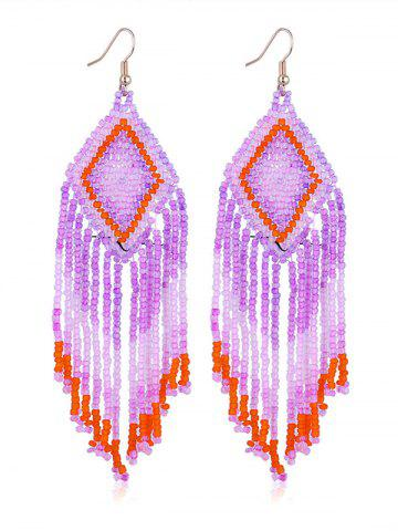 Buy Geometric Beads Tassel Dangle Earrings