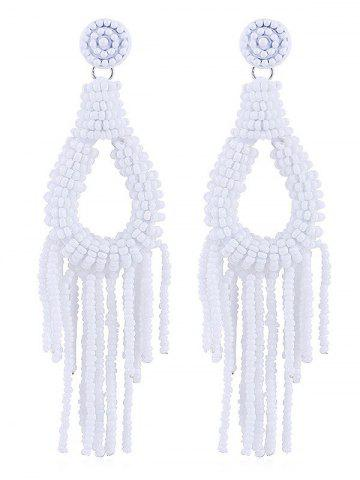 Online Beads Decoration Teardrop Shaped Tassel Earrings