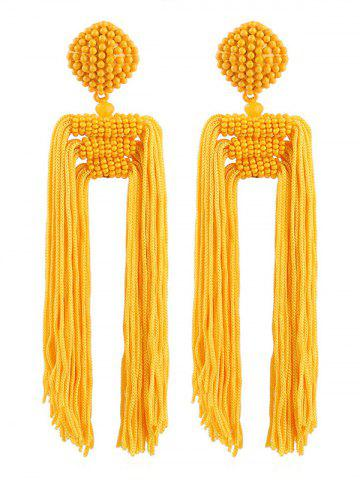 Latest Beads Decoration Tassel Design Earrings