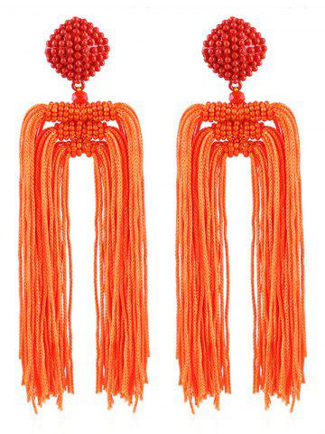 Unique Beads Decoration Tassel Design Earrings