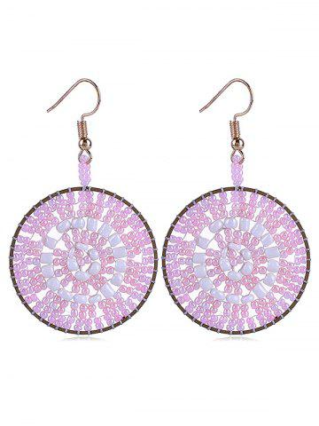 Discount Round Shaped Beads Decoration Hook Earrings