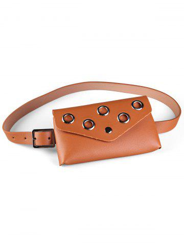 Outfit Hollow Out Rivets Fanny Pack Belt Bag