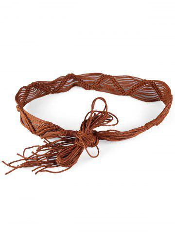 Hot Bohemian Braided Rope Adjustable Dress Belt