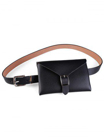 Outfit Funny Bag Faux Leather Skinny Waist Belt