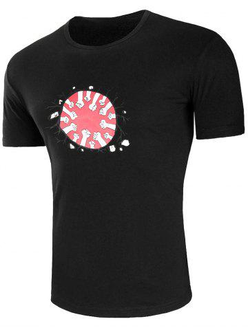 Shops Round Neck Earth Fist T-shirt