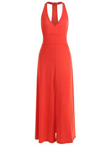 Latest Racerback Low Cut Maxi Dress