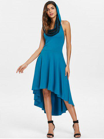 New Convertible Hooded High Low Swing Dress