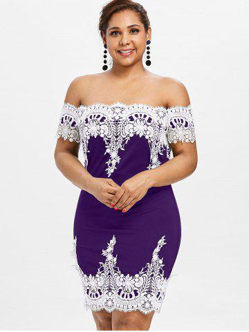 bd2f84c3c92d Purple Off Shoulder Dress - Free Shipping