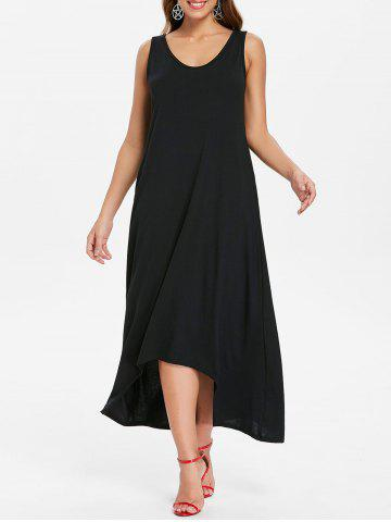 Fashion Sleeveless Front Pockets Maxi Dress