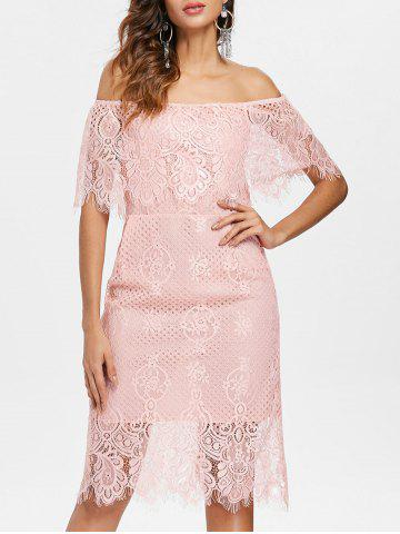 Chic Off Shoulder Lace Party Dress