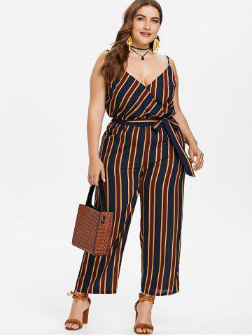 Online Plus Size Striped Cami Jumpsuit
