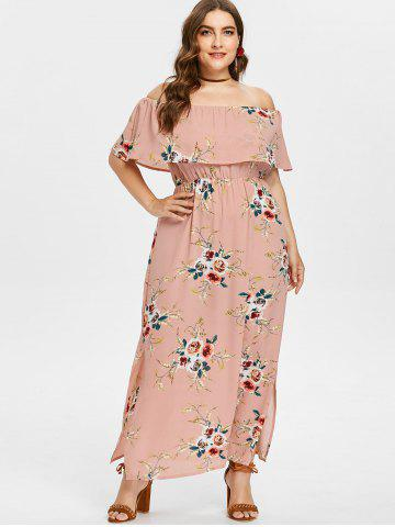 Orange Floral Maxi Dress Free Shipping Discount And Cheap Sale