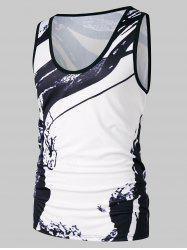 Ink Print Casual Tank Top -