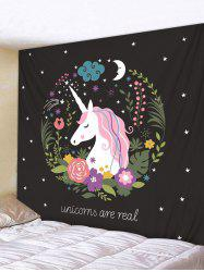 Unicorn Flower Star Moon Tapestry Wall Hanging Decor -