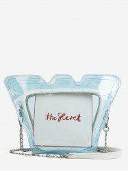 Personalized Chain Transparent PVC Jelly Crossbody Bag -