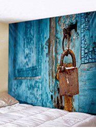Vintage Lock Door Pattern Tapestry Wall Hanging Decor -