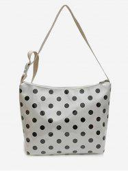 Leisure Vacation Large Capacity Polka Dot Crossbody Bag -