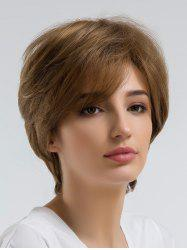 Short Inclined Bang Straight Heat Resistant Synthetic Wig -