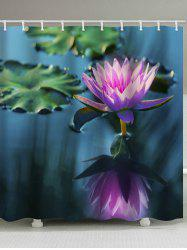 Beautiful Water Lily Print Waterproof Shower Curtain -