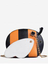 Color Block Chain Critters Shaped Sling Bag -