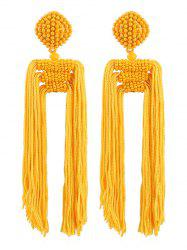 Beads Decoration Tassel Design Earrings -