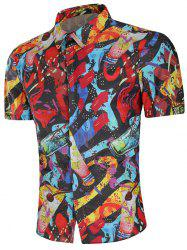 Drinks Paint Slim Fit Shirt -