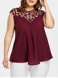 Openwork Plus Size Sleeveless Blouse -