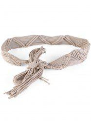 Bohemian Braided Rope Adjustable Dress Belt -