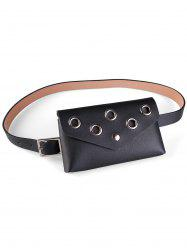 Hollow Out Rivets Fanny Pack Belt Bag -