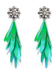 Long Paillettes Designed Dangle Earrings -