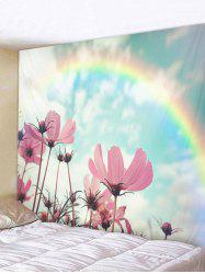 Rainbow Flower Pattern Tapestry Wall Hanging Decor -