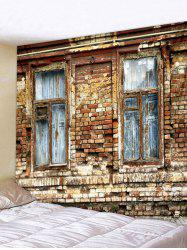 Brick Wall Window Pattern Tapestry Decoration -