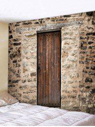 Wooden Door Wall Pattern Tapestry Decoration -