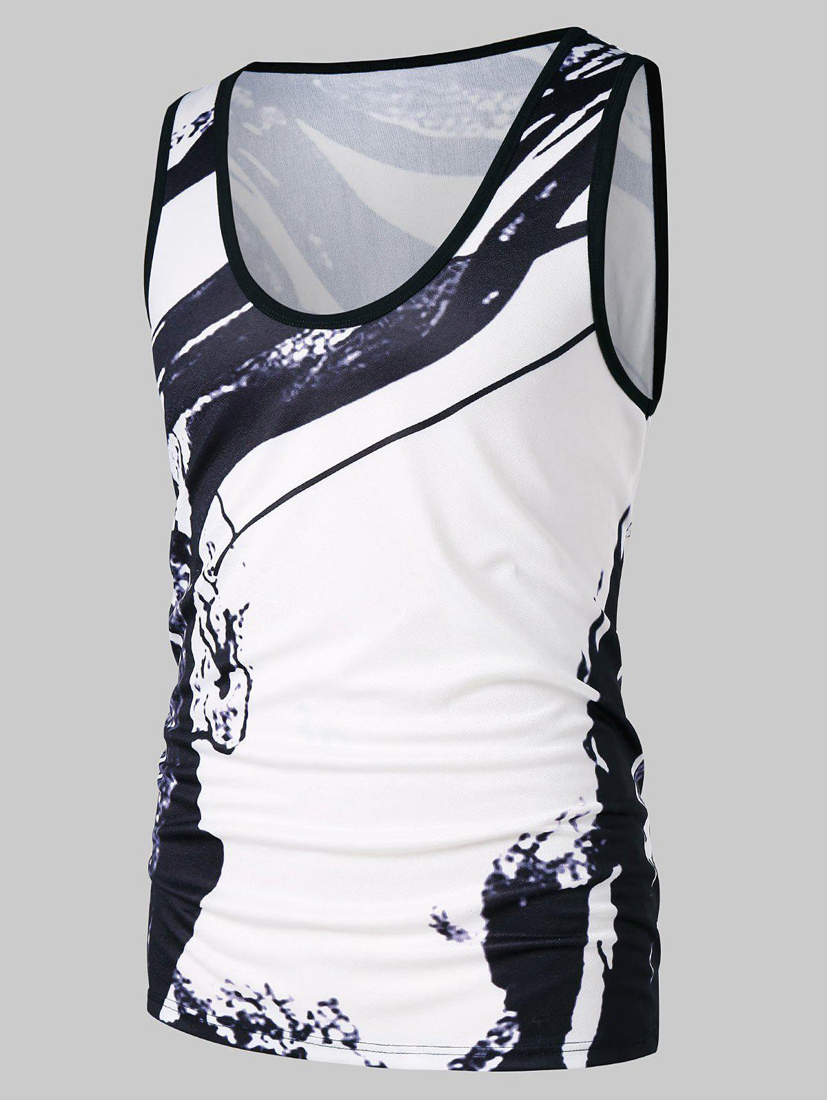 New Ink Print Casual Tank Top