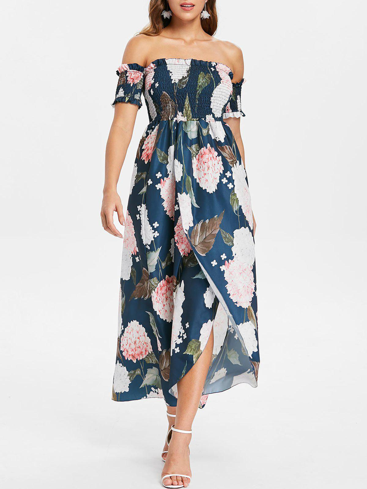 Best Off The Shoulder Floral Print Maxi Dress