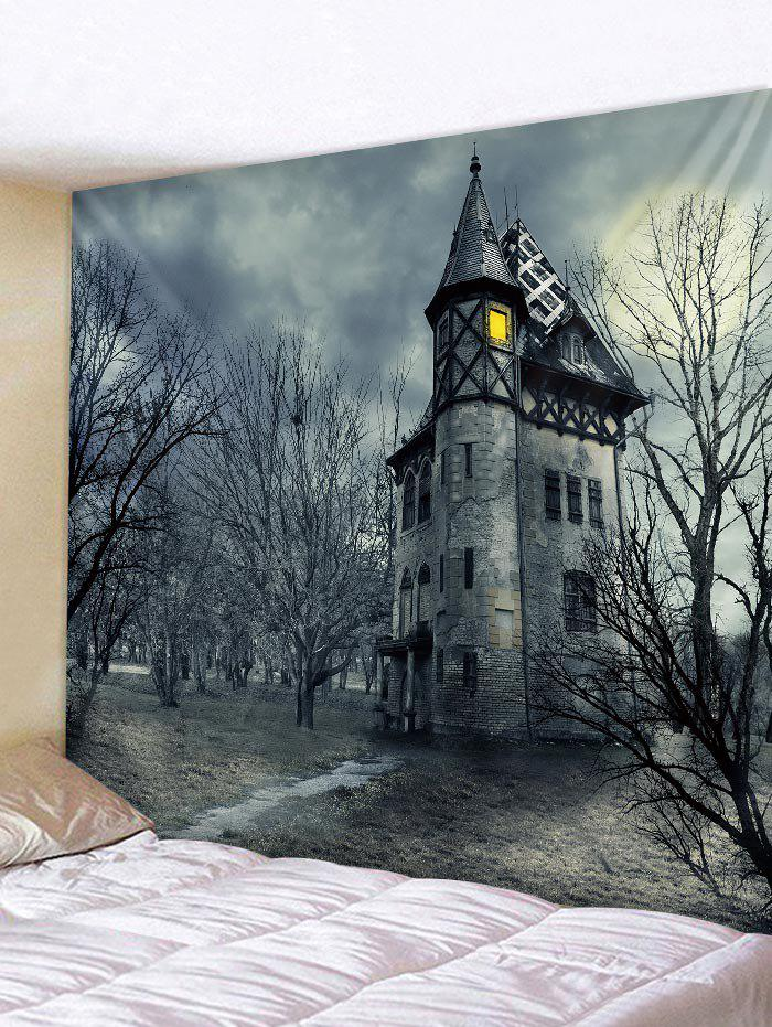 Affordable Dark Castle Pattern Tapestry Wall Decoration