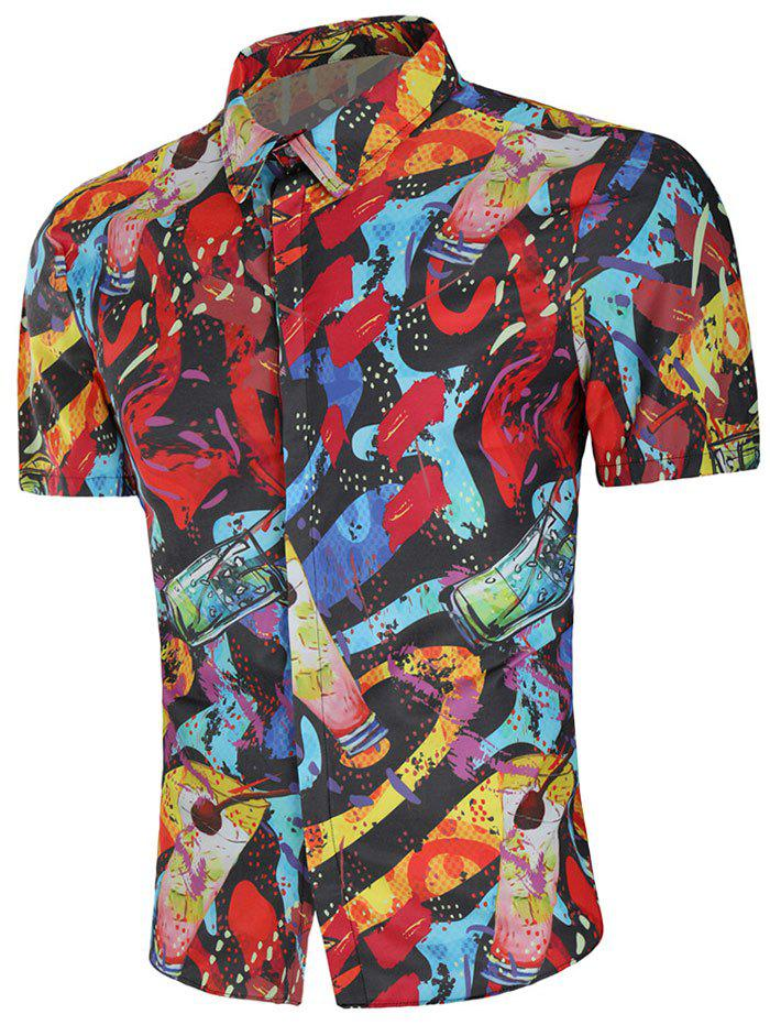 Store Drinks Paint Slim Fit Shirt