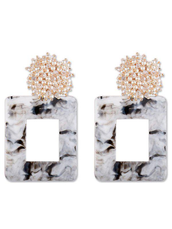 Affordable Geometric Square Design Artificial Pearl Earrings