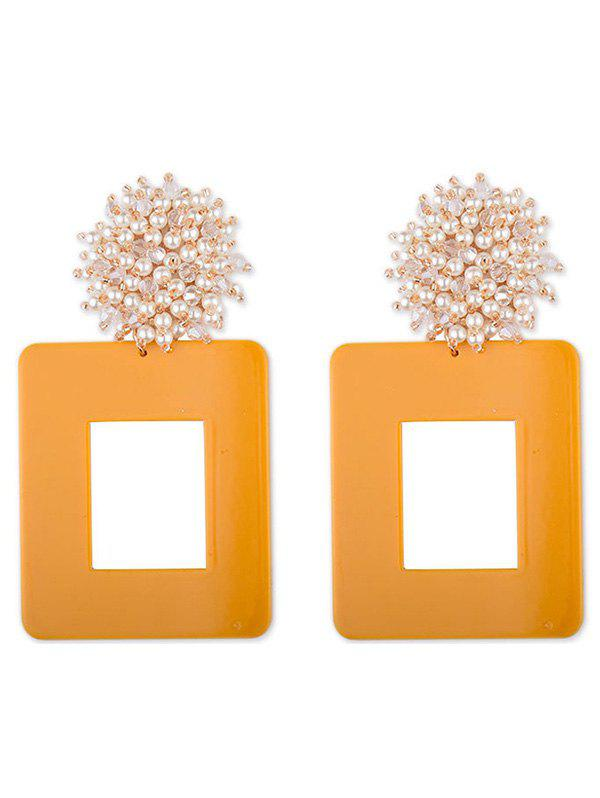 Best Geometric Square Design Artificial Pearl Earrings
