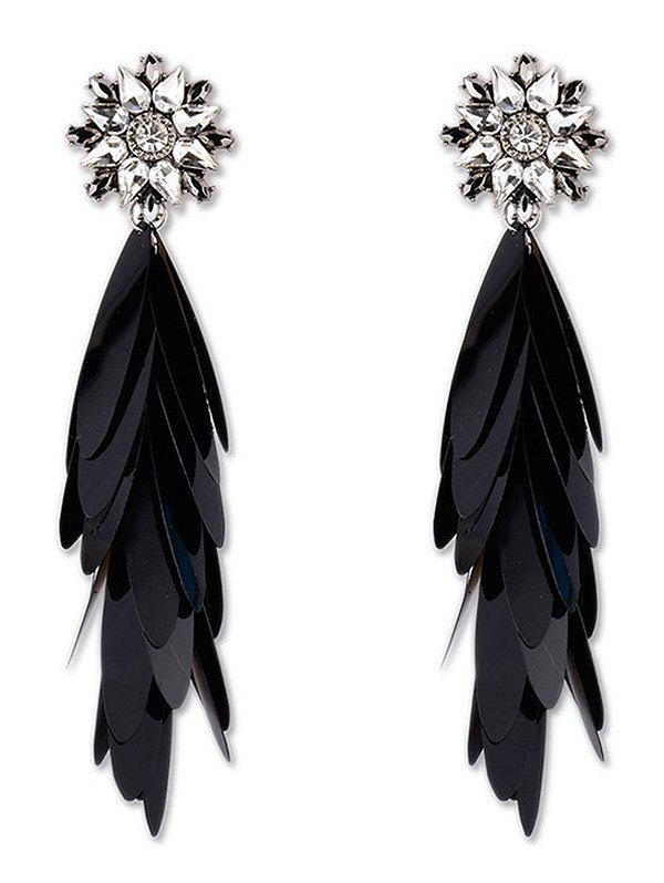 Shop Long Paillettes Designed Dangle Earrings