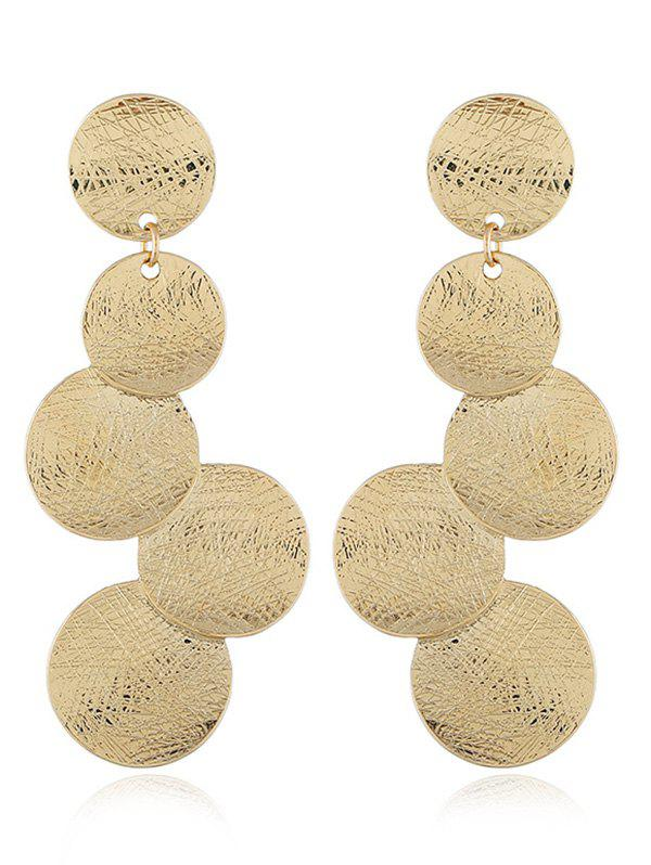 Fashion Simple Round Coin Design Long Hanging Earrings